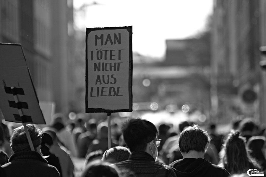 Demonstration gegen Femizide, 9.4.2021 Graz © Doku Service Steiermark